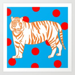 Tiger Spotted Art Print