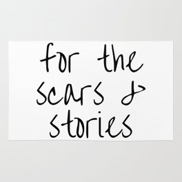 """FOB lyrics """"for the scars and stories"""" Rug"""