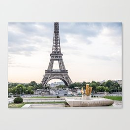 Eiffel Tower Paris in August Canvas Print