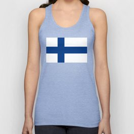 Flag of Finland - High Quality Image Unisex Tank Top