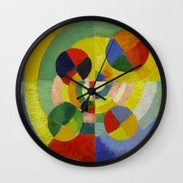 """Robert Delaunay """"Circular Forms"""" (detail) Wall Clock"""