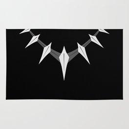 Black panther necklace Rug