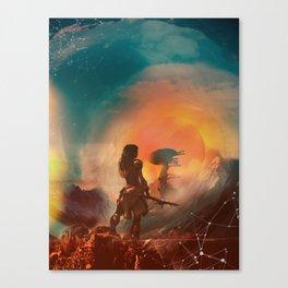 Horizon zero dawn poster game print fan artwork game room wall decor aloy art print game girl Canvas Print