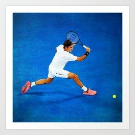 Roger Federer Sliced Backhand Art Print