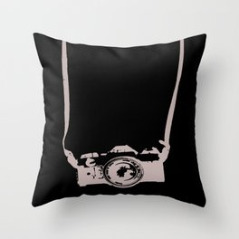 Camera and Strap Throw Pillow