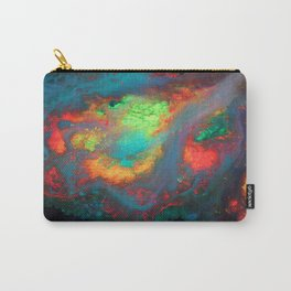 """Titan"" Mixed media color on canvas, abstract painting red blue green yellow contemporary art Carry-All Pouch"