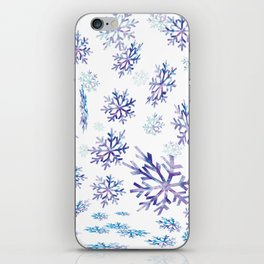 Snowflakes falling iPhone Skin