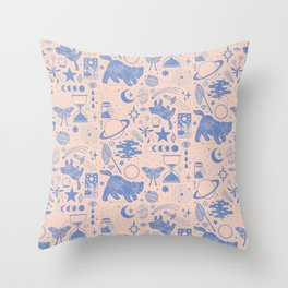 Collecting the Stars Throw Pillow