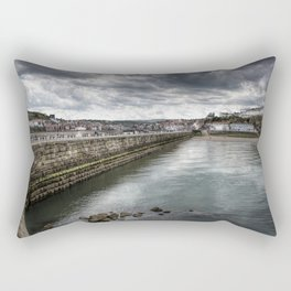 Stormy Skies Over Whitby Rectangular Pillow