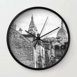 Sacre Coeur view Montmartre Paris Wall Clock