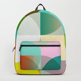 mid century geometry vibrant colors Backpack