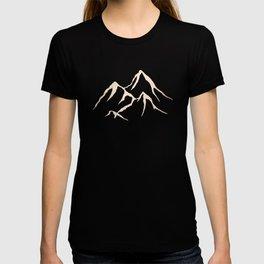 Adventure White Gold Mountains T-shirt