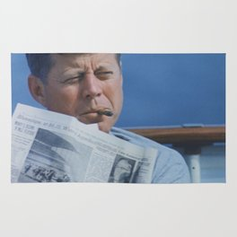 JFK SMOKING Rug
