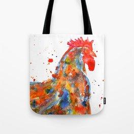 Watercolor Rooster Tote Bag