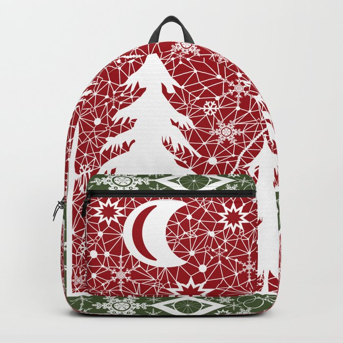 Winter. Christmas. Backpack