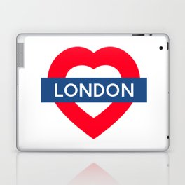 London Underground - Heart Laptop & iPad Skin