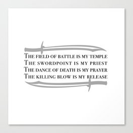 Battle Mantra Canvas Print