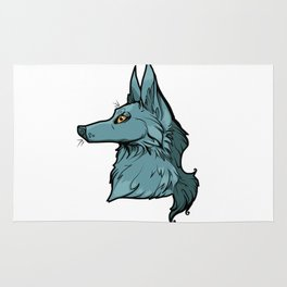 Green Wolf Rug