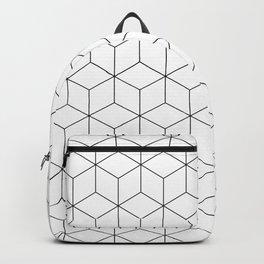 3D Cubes Line Pattern Backpack