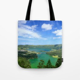 Lakes in Azores Tote Bag