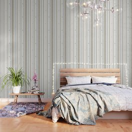 sewing lines and buttons  - grey and beige Wallpaper