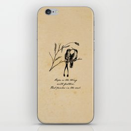 Emily Dickinson - Hope is the Thing with Feathers iPhone Skin