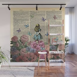 Alice In Wonderland Magical Garden Wall Mural