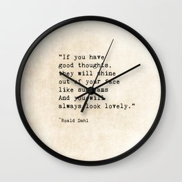 Roald Dahl Lovely Quote Wall Clock