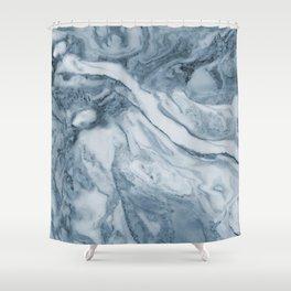 Cipollino Azzurro blue marble Shower Curtain