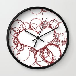 Circles make Heart Multi Design Line Art Wall Clock