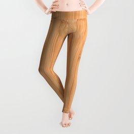 Cool elegant light brown bamboo wood print Leggings