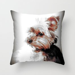 Yorkie | Dog | Dogs | Bad Day eh? | Nadia Bonello Throw Pillow