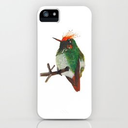 Rufous-crested Coquette iPhone Case
