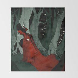 Snow White Lost in the Woods Throw Blanket