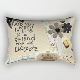 All you need in life is chocolate_yellow Rectangular Pillow
