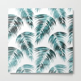 Maui Palm Leaf 2 green Metal Print