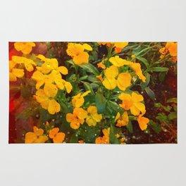 Golden Wallflowers Rug