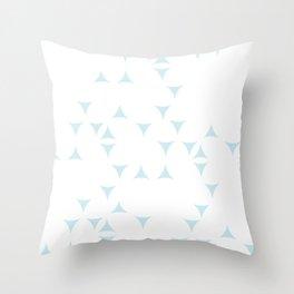 White_Blue_Triangles Throw Pillow