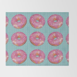 Pink Donuts Throw Blanket