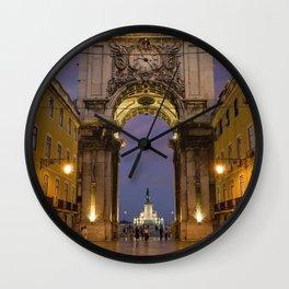 The Arco de Triunfo, Lisbon, Portugal Wall Clock