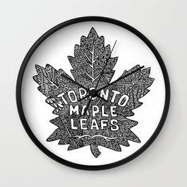 Ice Hockey Team - Maple Leafs Wall Clock
