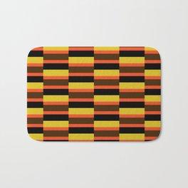 Geometric Pattern #118 (orange brown stripes) Bath Mat