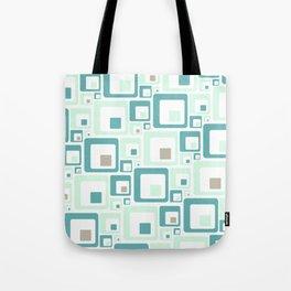 Retro Squares Mid Century Modern Background Tote Bag