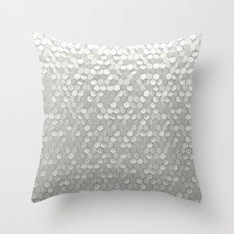 White hexagons Throw Pillow