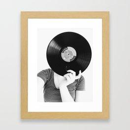 Pensive Record. Framed Art Print