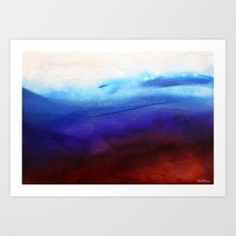 Ruby Tides - Original Abstract Art Art Print