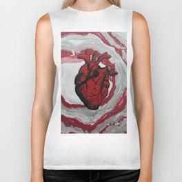 3 Visions Art Heartbeat Biker Tank