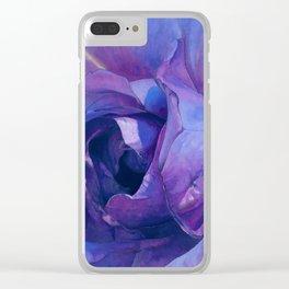 Floribunda Rose - Electric Purple Clear iPhone Case