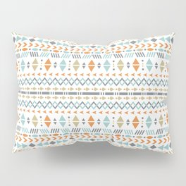 Southwestern Tribal Modern Geometric Stripes of Arrows Chevrons Diamonds Leaves Triangles Circles Pillow Sham