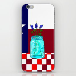 Texas Flag and Blue Bonnets iPhone Skin